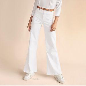 Express Extreme High Rise White Wide Leg Pants